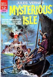 MYSTERIOUS ISLE #1 - Dell - Painter cover - Jules Verne -NO RESERVE!