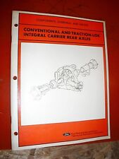 1982 FORD CONVENTIONAL TRACTION LOK INTEGRAL REAR AXLES SERVICE TRAINING MANUAL