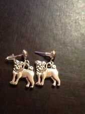 Pug dog stud earrings cute dog earrings