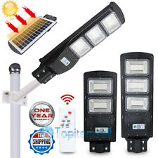 80000LM Commercial Led Solar Street Light Outdoor IP67 Dusk to Dawn Sensor Post