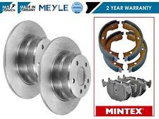 FOR BMW X5 E53 3.0d 3.0 4.4 00-07 REAR MEYLE BRAKE DISCS MINTEX BRAKE SHOES PADS