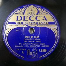 78rpm THE BACH CHOIR rock of ages / abide with me , osbourne peasgood F.8989