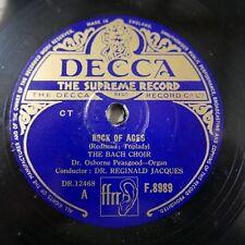 78 tr/min The BACH CHOIR Rock of Ages/respecter avec moi, Osbourne Peasgood F.8989