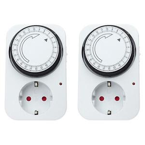 2x Zeitschaltuhr Tageszeitschaltuhr Schaltuhr mechanisch analog IP20
