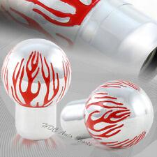 Red Fire Flame Flaming Aluminum Ball Manual Gear Stick Shifter Knob Universal 1