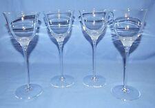 Vintage Mikasa Silver Surf Wine Glasses - Set of 4 - Mint - Discontinued