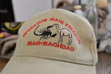 Vintage Operation Iraqi Freedom Iraq Baghdad Baseball Cap Scorpion Camel