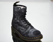 Dr. Martens 1460 Pascal Gris Tie Dye Gamuza Para Mujer Negro Zapatos Estilo de vida informal