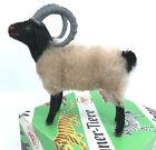 Wagner Kunstlerschutz Ram Mountain Sheep 5in Mohair Flocked Toy Figure Putz Box