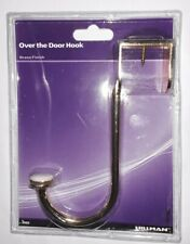 NEW The Hillman Group 592560 Over Door Hook, Brass, Plate, 1-Pack