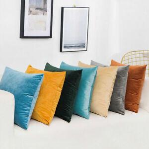"""20"""" Large Velvet Plain Cushion Cover Pillow Case Home Sofa Room Decor 50cm*50cm"""