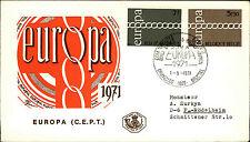1971 Belgien Belgie Belgiique Europa FDC First Day Dover Sonderstempel Brüssel