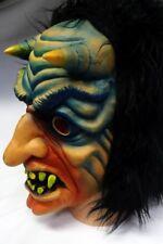 Vintage Topstone Haunted Halloween Mask Scary Vampire Devil Demon Monster Horns