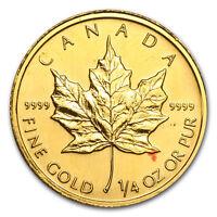 1/4 oz Gold Canadian Maple Leaf (Abrasions) - SKU #36086