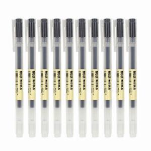 5pcs Moma MUJI Japan 0.38mm/0.5mm Non-toxic Gel Ink Pen Blue/Black/Red/Navy blue