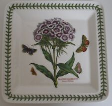 Portmeirion Botanic Garden Square Salad Plate Sweet William dinnerware flower