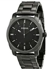 Fossil Machine Black Dial Smoke IP Stainless Steel FS4774 Men's Watch MSRP $125