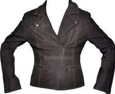 Ladies / Women Leather Jacket Bike Fashion Trendy Cow Nubuck Soft Leather Jacket