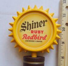 "BEER TAP HANDLE SHINER RUBY REDBIRD ""BRIGHT YELLOW SUN"""