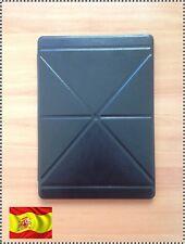 Funda con tapa para iPad Air Carcasa de cuero piel Negra protector soporte pie