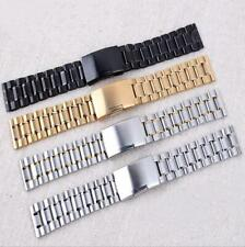Stainless Steel Solid Metal Strap Bracelet Replacement Watch Band Strap 14-26mm