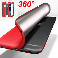 Slim 360 Degree Rubber TPU Shockproof Hybrid Full Cover Case for iPhone 6 7 Plus