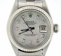Rolex Datejust Lady Stainless Steel/18K White Gold White Mother of Pearl Diamond