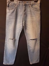 """WOMEN'S JEANS TOMBOY TRACY DISTRESSED RELAXED 100% COTTON SIZE 14/32"""" LEG 28"""""""