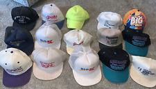 Vintage hat lot of 15 hats truckers snapbacks KMart Polaris OML Godfathers Auto