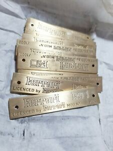 FERRARI F40 , 1 X PLAQUE, LOGO , BADGE SCRIPT FERRARI , SCALE MODEL FERRARI