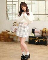 LIZ LISA - RESTOCK! Ribbon Brooch Check Skirt (japan kawaii harajuku lolita)