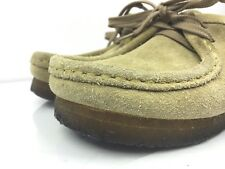 Clarks Wallabee Chucka Desert Shoes Sand Suede Women's 6.5 M Leather