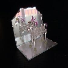 Cheval cristal sculpture verre miroir miniature fait main vintage art déco N4432