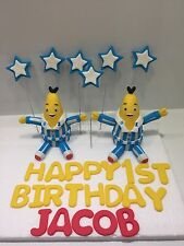 BANANAS IN PYJAMAS CAKE TOPPER CHILDRENS BIRTHDAY CAKE FONDANT EDIBLE  ICING