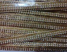 Diamond studded Designer Fancy Golden Lace piece 4.5 mtr for dress kurti sarees