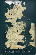 Game Of Thrones Map Poster mehrfarbig