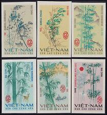 VIETNAM du NORD N°527/532** Non dentelés Arbres, 1967, Viet Nam Imperf 449-454