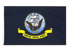 New listing U.S. Navy Flag, 3'x5' all weather nylon flag, 100% American Made, Free Shipping