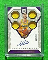 SVI MYKHAILIUK AUTO PATCH ROOKIE SP#/199 LAKERS 2018-19 CORNERSTONES BASKETBALL