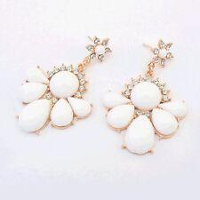 CRISTALLO BIANCO Dangle Earrings ORO BIANCO Dangle Earrings Orecchini Bianco Fiore
