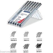 STAEDTLER 308 Fineliner pigment liner Pigmentliner schwarz  4+2 Gratis