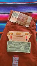 "DEADSTOCK Vintage 90's Levi's 501 ""FOR WOMEN"" 25 X 32 Rust Red Brown Made In USA"