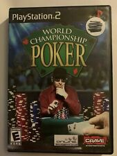 WORLD CHAMPIONSHIP POKER - PS2 - COMPLETE W/ MANUAL - FREE S/H - (T3)