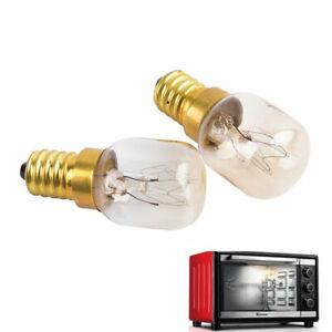 2 x Hotpoint 25w Oven Bulb Lamp 300°C Cooker Appliance Light 25W 240V E14 SES