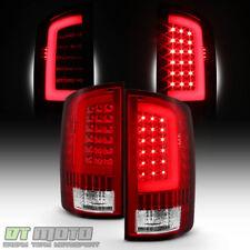 Red 2002-2006 Dodge Ram 1500 03-06 Ram 2500 3500 LED Bar Tail Lights Brake Lamps