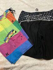 New listing 2 Pair (1)Hurley Phantom Men's 32/33 Swim Trunks Board Shorts