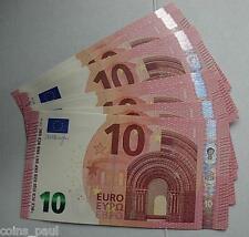 Greece Grece Grecia Griechenland   9  Greek  10   euro notes, Draghi    UNC