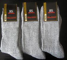 3 Paar Norwegersocken mit Wolle Norweger Wandersocken ohne Gummi grau 39 bis 42