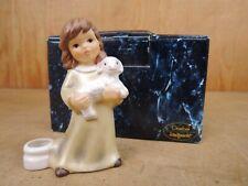 "Goebel ""Engel mit Lamm"" + Kerzennapf Kerzenhalter Goebel Weihnacht OVP 10 cm"