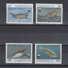 TIMBRE STAMP 4 TURKMENISTAN Y&T#40-43 PHOQUE SEAL WWF NEUF**/MNH-MINT 1993 ~C94